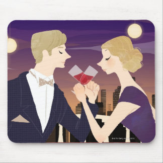 Toasting Glasses Mouse Pad