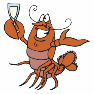 toasting lobster standing photo sculpture