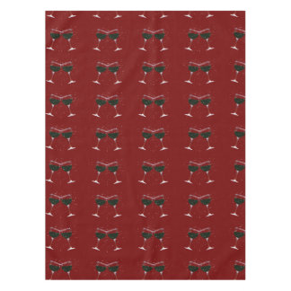Toasting Wine Glasses Holiday Table Cloth Tablecloth