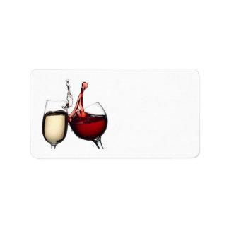 """TOASTING WINE GLASSES"" RETURN ADRESS LABLES ADDRESS LABEL"