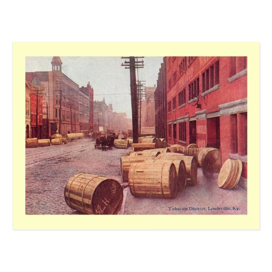 Tobacco Barrels, Louisville, Kentucky Vintage Postcard
