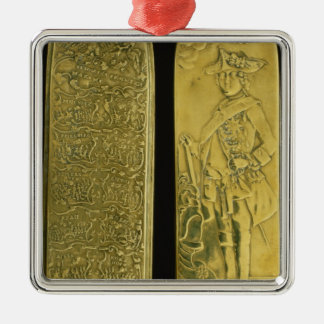 Tobacco box depticting Frederick II Silver-Colored Square Decoration