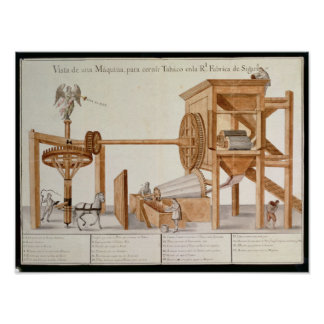 Tobacco Sieving Machine from the Royal Tobacco Poster