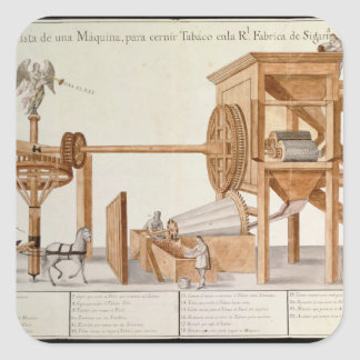 Tobacco Sieving Machine from the Royal Tobacco Square Sticker