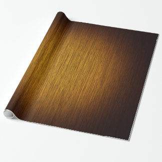 Tobacco Sunburst Grainy Wood Background Wrapping Paper