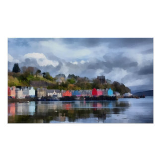 Tobermory Harbour Poster