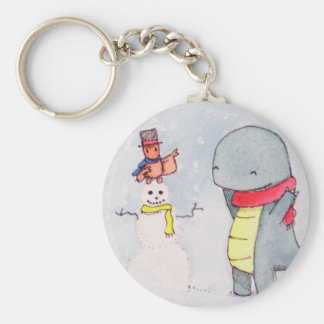 Tobey and Max Snowman Key Ring