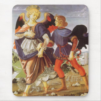 Tobias and the Angel by Andrea del Verrocchio Mouse Pad