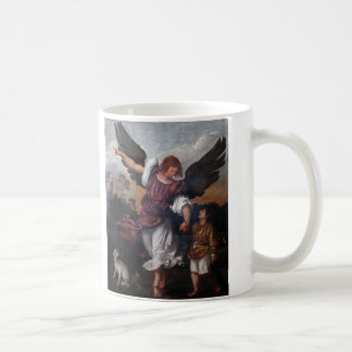 Tobias and the Archangel Raphael  - Titian Coffee Mugs