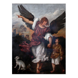 Tobias and the Archangel Raphael  - Titian Postcard