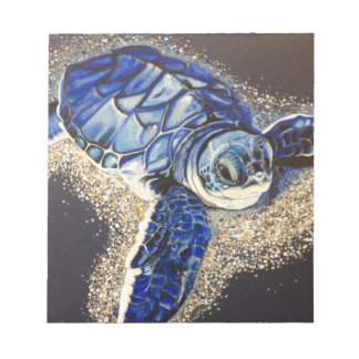 Tobin the baby sea turtle notepad