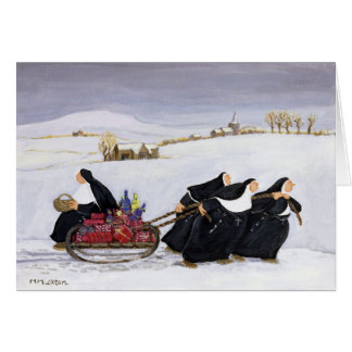 Tobogganing  2 greeting card