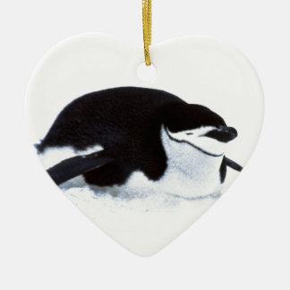 Tobogganing Penguin Christmas Ornament
