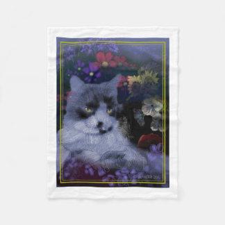 Toby Cat Fleece Blanket