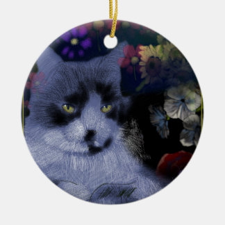 Toby Cat/The General Round Ceramic Decoration