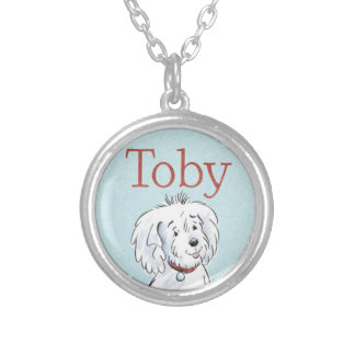 Toby Remember-Me-Necklace Silver Plated Necklace