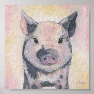 Toby the Piglet art print poster