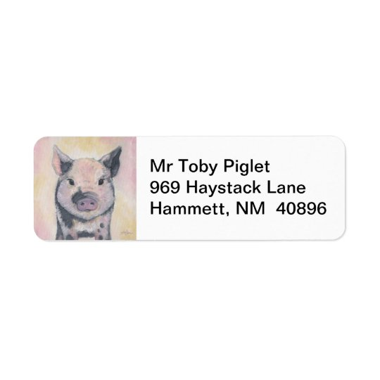 Toby the Piglet return address label