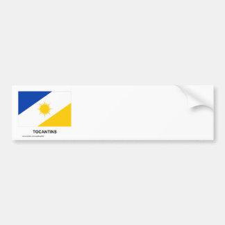 Tocantins, Brazil Flag Car Bumper Sticker