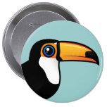 Toco Toucan 10 Cm Round Badge