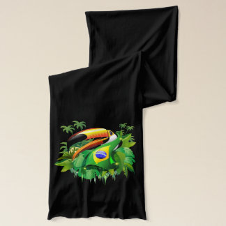 Toco Toucan with Brazil Flag Scarf