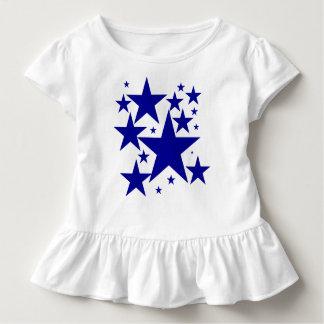 Today Best Award! Blue Star Ruffle Tshirt