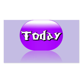 Today Business Card - Purple Lavender