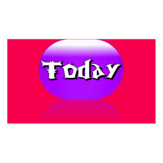 Today Business Card - Purple Red Pink