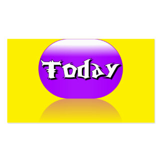 Today Business Card - Purple Yellow