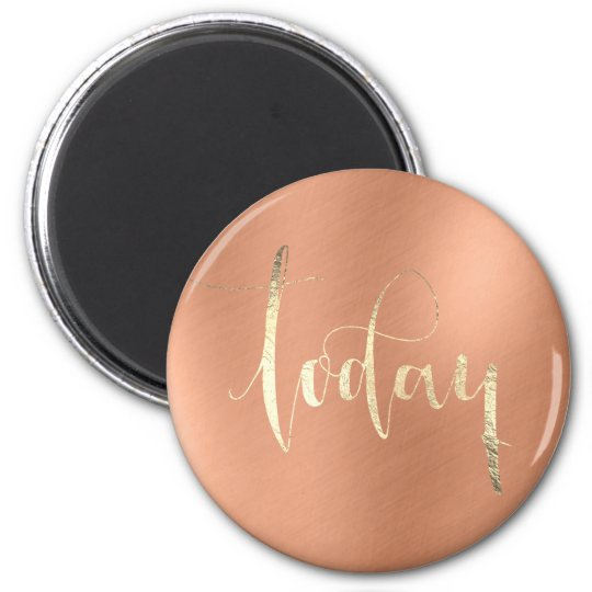 Today Gold To Do Planner Home Office Copper