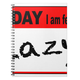 Today I Am Feeling Lazy Notebook