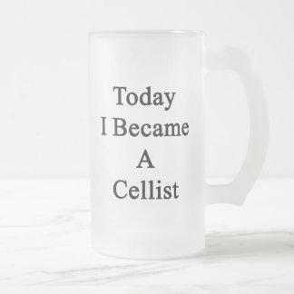 Today I Became A Cellist Glass Beer Mug