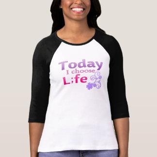 Today I Choose Life Semicolon Suicide Survivor Tee Shirt