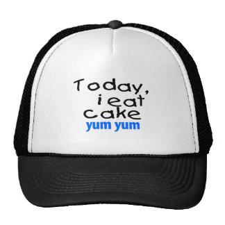 Today I Eat Cake Yum Yum blue Trucker Hats