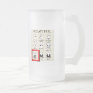 Today I Feel Lawful Evil Frosted Glass Beer Mug