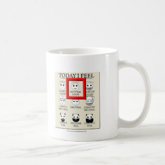 Today I Feel Neutral Good Coffee Mug