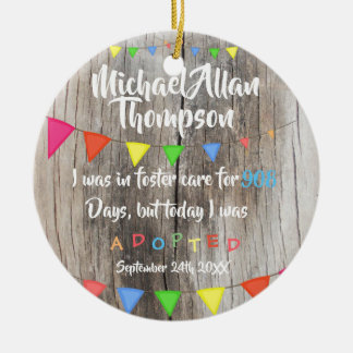Today I was Adopted from Foster Care - Custom Name Christmas Ornament