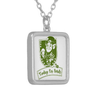 Today I'm Irish Silver Plated Necklace