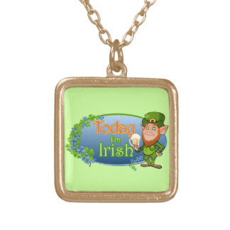 Today I'm Irish (Ver 2) Gold Plated Necklace