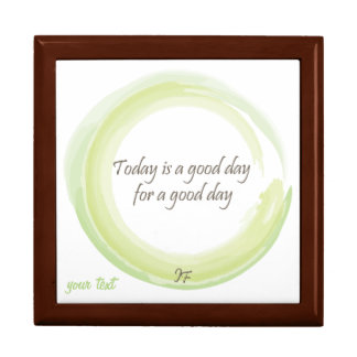 """""""Today is a good day for a good day"""" Large Square Gift Box"""