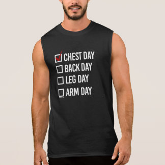 Today is Chest Day -   Training Fitness -.png Sleeveless Shirt