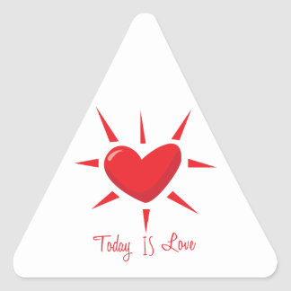 Today is Love Triangle Sticker