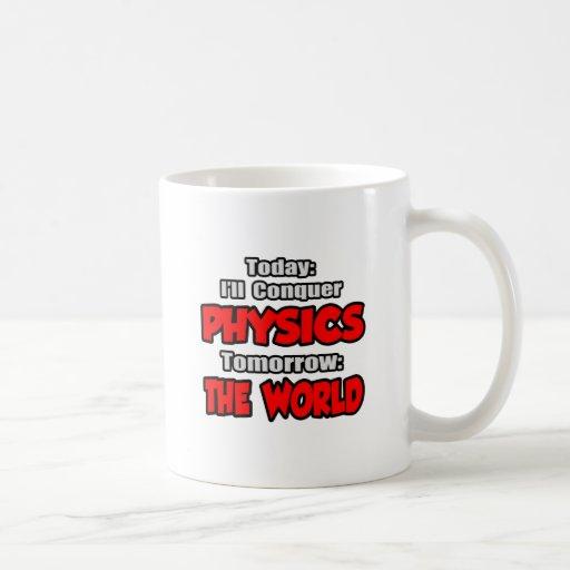 Today Physics...Tomorrow, The World Basic White Mug