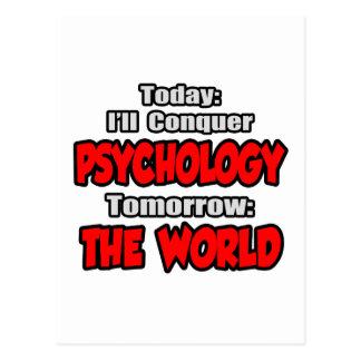 Today Psychology...Tomorrow, The World Postcard