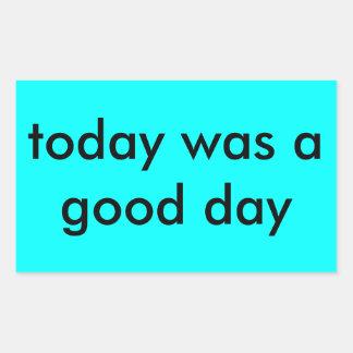Today Rectangular Sticker