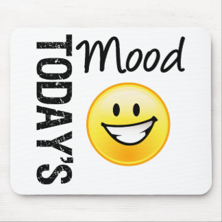 Today s Mood Emoticon Bright Smile Mouse Pads