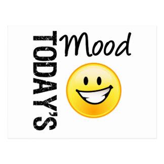 Today s Mood Emoticon Bright Smile Postcards