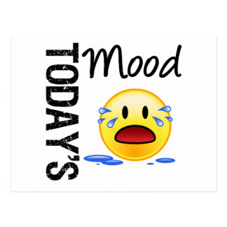 Today s Mood Emoticon Crying Post Cards