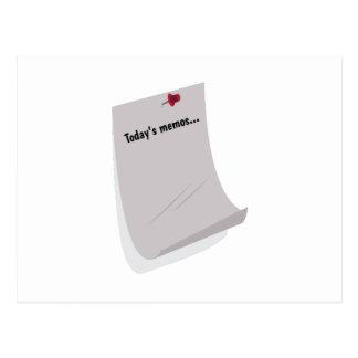 Today's Memos..... Post Card
