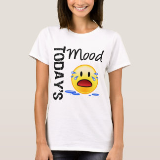 Today's Mood Emoticon Crying T-Shirt